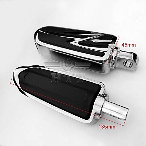 HK MOTO- Footrest Foot pegs For Harley Low Rider Glide Road King Glide Street Glide CHROME