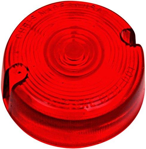 Red Turn Signal Lens Harley Low Rider Custom - FXLR 87-94 repl OEM 68457-86
