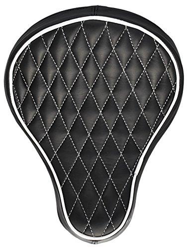 La Rosa 16 Harley-Davidson Harley Chopper Bobber Black Leather White Diamond Tuk BaSICK Solo Seat
