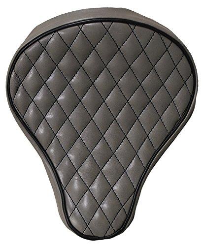 La Rosa 16 Harley-Davidson Harley Chopper Bobber Grey Leather Diamond Tuk BaSICK Solo Seat