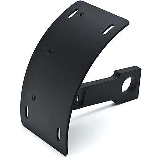 Krator Black Vertical Axle Mount Motorcycle Plate Holder For Harley Davidson V-Rod Night Street V Rod