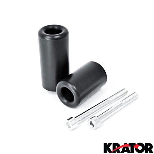 Krator No Cut Frame Sliders Motorcycle Fairing Protectors For 1999-2002 Suzuki SV650 SV650S