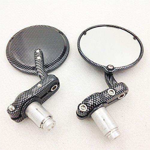Motorcycle Honda Kawasaki Suzuki Yamaha Ducati Carbon Fiber Motorcycle 1 Inch Bar End Mirrors
