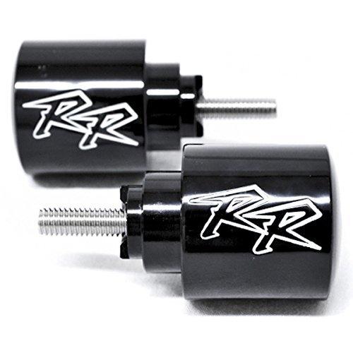 Krator Black Honda RR Engraved Bar Ends Weights Sliders - CBR 600 900 929 954 1000 RR and More 1987-2013