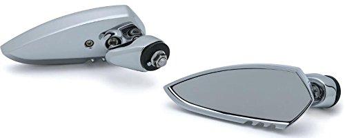 Kuryakyn 1818 Fairing Mounted Scythe Mirrors Chrome for Harley FLH