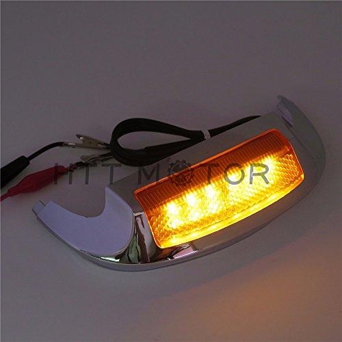 HTTMT- Front LED Fender Tip Light Oranged Lens for Harley Street Glide FLHX 14-16 17