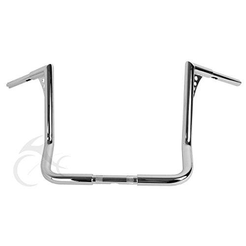 XFMT Chrome-1-1-4-034-16-034-Ape-Hanger-HandleBar-For-Harley-Dressers-Baggers-Touring-FLHT