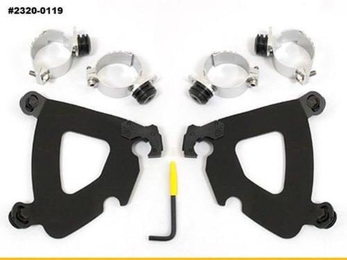 Memphis Shades Trigger Lock Mount Kit for Gauntlet Fairing - Black