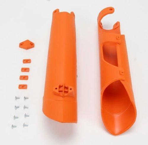 Ufo Plastics Fork Slider Protectors - 98-12 Ktm Orange , Color: Orange Kt04002-127