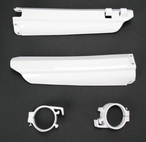 Ufo Plastics Frk Sldr Grd Wh Yz1/2 96-04 Body Plastics Fork Slider Protectors Wht Yamaha Yz125-250 White 96-99