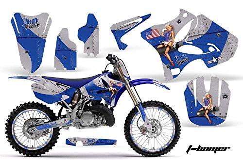 Yamaha YZ 250 2 Stroke Motocross Graphic Kit 2008 - T-Bomber Blue - AMR Racing