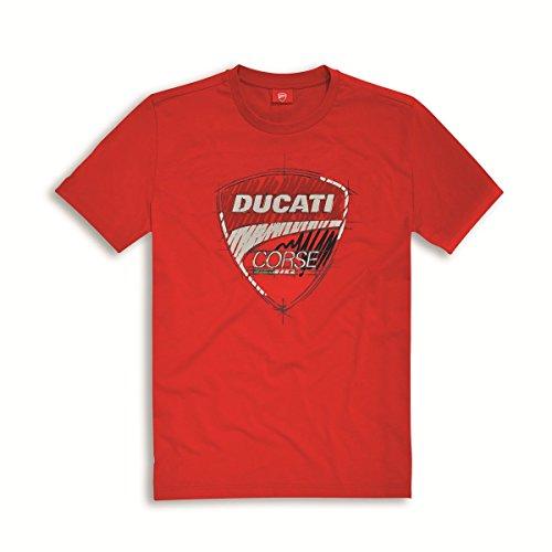 Ducati Corse Sketch T-shirt Red Size Medium