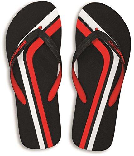 Ducati Corse Stripe Flip Flops Flip-Flops Black Red White Euro 39-40 US 7-8