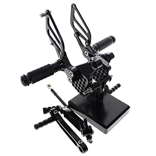 FXCNC Motorcycle Rearsets Rear Foot Pegs CNC Rear set Footrests Fully Adjustable Rear Foot Boards Fit for DUCATI 749 999 all Years Black