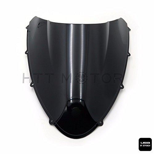 HTTMT- New Double Bubble Windscreen Windshield Shield for Ducati 84810981198 Black