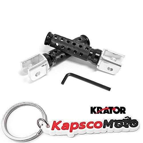 Krator Ducati 851 888 900SS M900 Black Front Foot Pegs Billet Aluminum Foot Pegs Left Right Sides Motorcycle 1989 1990 1991 1992 1993 1994 1995 1996 1997 1998  KapscoMoto Keychain