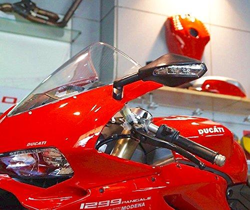 Ducati 9591299 Panigale Matte Black LED mirrors 751112-Pair