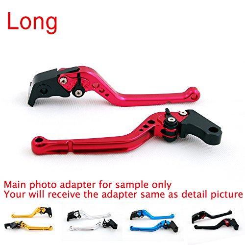 Areyourshop Long Brake Clutch Levers For Ducati 400 620 695 696 796 MONSTER MONSTER S2R 800 Black
