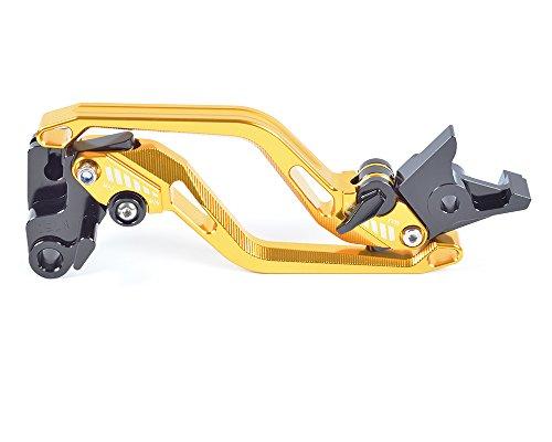 Tencasi Gold New Long Rhombus Hollow Adjustable Brake Clutch Lever for Ducati 695 MONSTER 2007-2008 696 MONSTER 2009-2014 796 MONSTER 2011-2014 MONSTER S2R 800 2005-2007