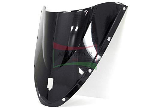 Protek ABS Plastic Injection Black Smoke Double Bubble Transparent Windscreen Windshield for 2003 2004 2005 2006 2007 Ducati 749 999 S R Biposto Monoposto