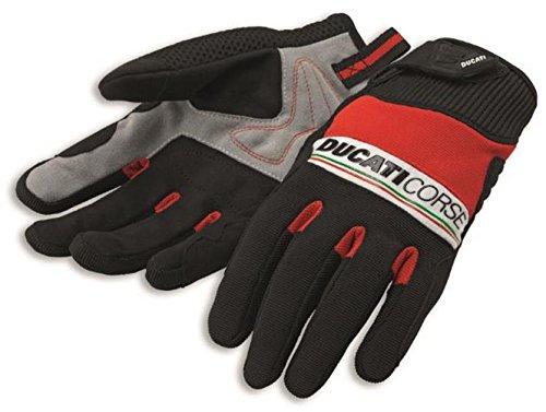 Ducati Corse Pitlane 2 Textile Mechanics Glove by Spidi Red Black White Large