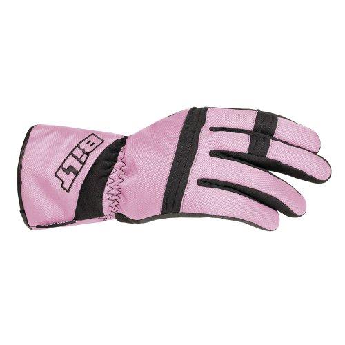 Bilt Women's Tempest Waterproof Textile Motorcycle Gloves - Xs, Pink/black