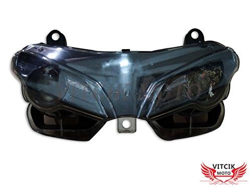 VITCIK Motorcycle Headlight Assembly for DUCATI 1098 848 2007 2008 2009 2010 2011 Head Light Lamp Assembly Kit Black