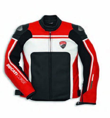 Ducati Corse 14 Leather Jacket Perforated RedBlackWhite 54