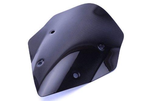 Bestem CBDU-MUL13-WSD-M Black Carbon Fiber Shorty Windscreen for Ducati Multistrada 1200 2013