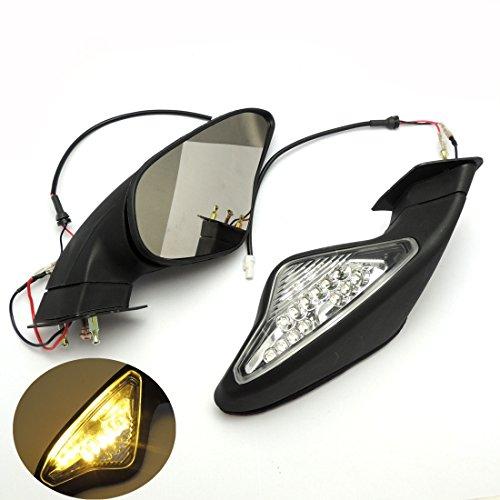 KEMIMOTO Motorcycle Mirrors for DUCATI 848 1098 1198 1098SR 1198R LED Turn Signal Blinker