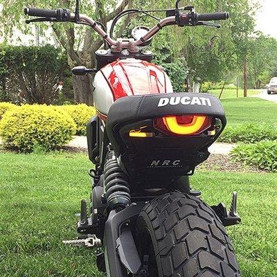 Ducati Scrambler Fender Eliminator Kit Plate Light Bracket - New Rage Cycles