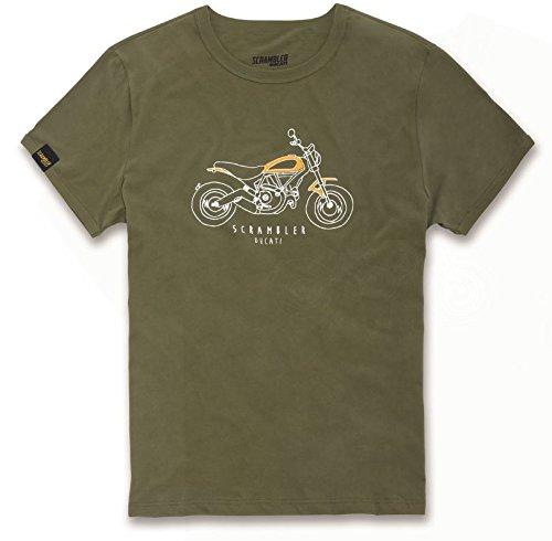 Ducati Scrambler Heritage Short Sleeve T-Shirt Army Green Large