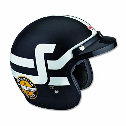 Ducati Scrambler Short Track Helmet - BlackWhite XXL