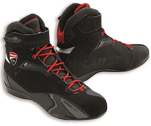 Ducati Corse City Technical Short Motorcycle Boots by TCX Black Euro 43 US 10