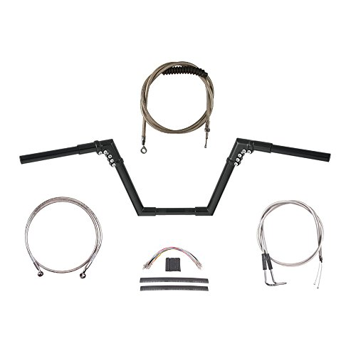 Hill Country Customs 1 14 GBlack 10 Ness Modular Ape Handlebar Kit for 2006-2011 Harley-Davidson Dyna models - BSC-HC-0601-1936-DY11