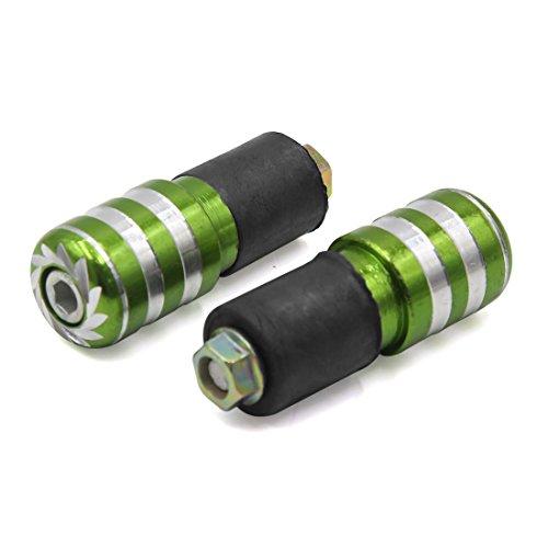 uxcell 2pcs Green Aluminum Alloy Motorcycle 78 Handlebar End Anti Vibration Cap