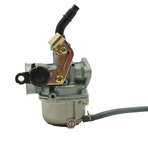 Glixal ATMTADB102 PZ19 Cable Choke Carburetor 50cc 70cc 90cc 110cc 125cc ATV Quad Dirt Bike 19mm Carb TaoTao Buyang Coolsport Lifan Tank SUNL Baja Cable Choke Lever