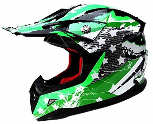 Motocross Youth Kids Helmet DOT Approved - YEMA YM-211 Motorbike Moped Motorcycle Off Road Full Face Crash Downhill DH Four Wheeler Helmet for Street Bike Dirt Bike BMX ATV Quad MX Boys Girls Large