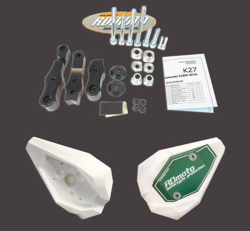 Honda CBR600F F4i  FS 2000-2007 RD Moto Crash Frame Sliders Protectors With Full Mounting Kit SL01 WhtGrn
