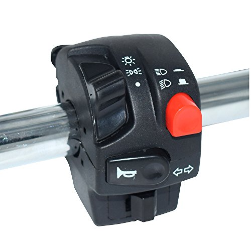 78 Motorcycle Handlebar Switches Assembly Power Start Kill Headlight Fog Lamp Spot Light Switch With Horn Button Turn Signal Push Buttons Electrical System