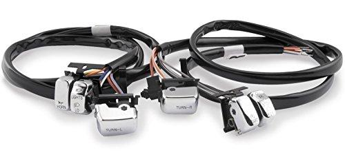 Bikers Choice Handlebar Switch Kit - Chrome 370304 For Harley Davidson