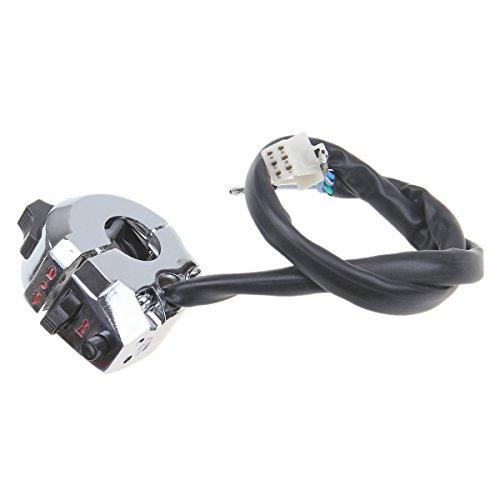 POSSBAY 78 Motorcycle Handlebar Switch Horn Headlight Turn Signal Control Aluminum