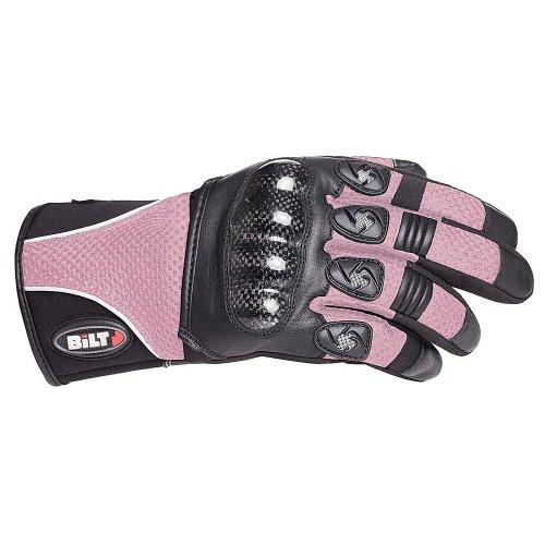 Bilt Women's Spirit Carbon Mesh Motorcycle Gloves - Xs, Pink