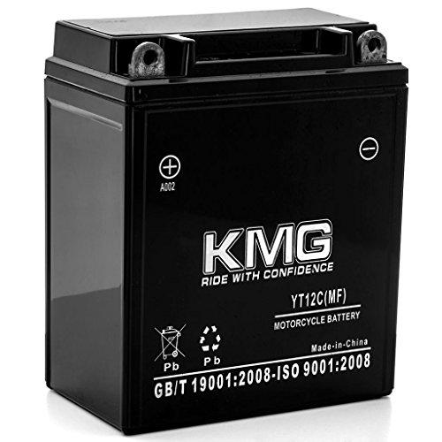 KMG 1980-1983 Yamaha XS400 All YT12C Sealed Maintenance Free Battery 12V Powersport Motorcycle Scooter ATV