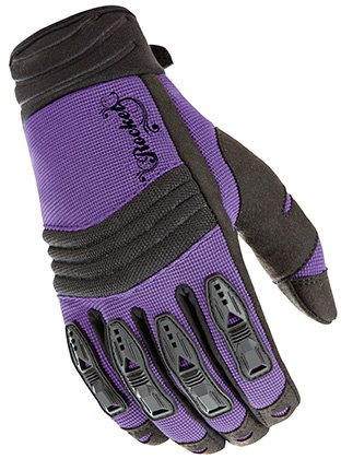 Joe Rocket Velocity Women's Textile On-road Racing Motorcycle Gloves - Purple/black / Large