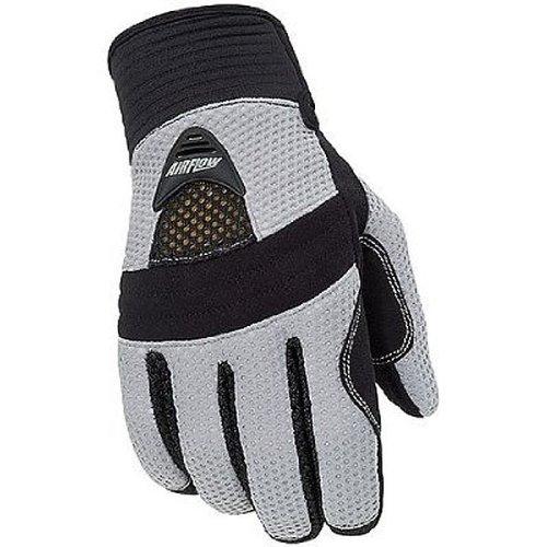 Tour Master Airflow Women's Textile On-road Motorcycle Gloves - Silver / Medium