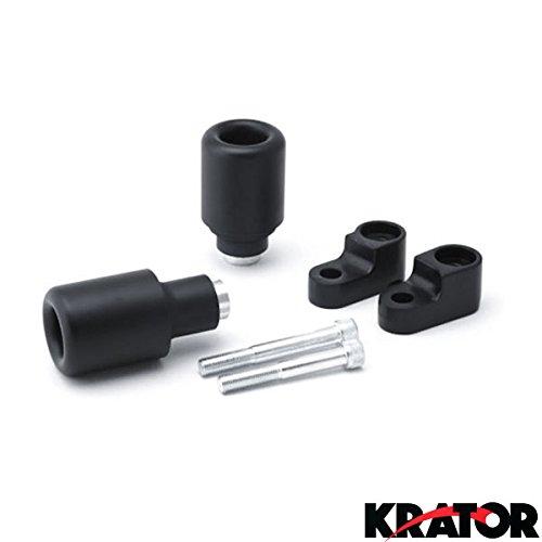 Krator 2007-2008 Honda CBR 600RR No Cut Black Frame Sliders Crash Protectors Motorcycle