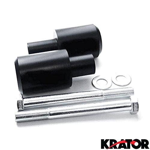 Krator Black Frame Sliders Delrin Fairing Crash Protector For 2006 Honda CBR 600RR CBR600RR