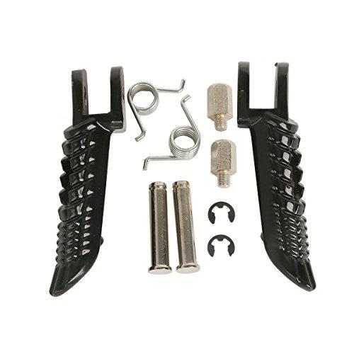 TCMT Black Front Foot Pegs Motorcycle Footpeg Footrest Bracket Set For Suzuki GSXR750 GSXR 750 2001 2002 2003 2004 2005 2006 2007 2008 2009 2010 2011 2012 2013 2014