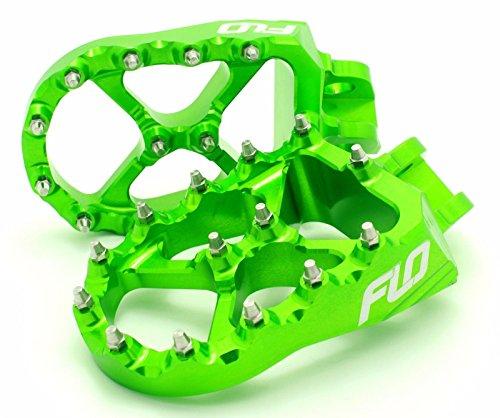 Flo Motorsports Green Kawasaki Kxf250/450 Foot Pegs Fpeg-792grn